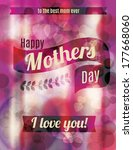 happy mother's day greeting... | Shutterstock .eps vector #177668060