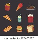 menu design over  black...   Shutterstock .eps vector #177669728
