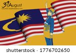 31st august  malaysia happy... | Shutterstock .eps vector #1776702650
