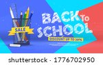back to school 3d trendy cute... | Shutterstock .eps vector #1776702950