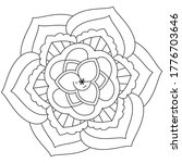 simple mandala shape for... | Shutterstock .eps vector #1776703646