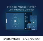 user interface concept of music ...