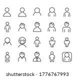 set of men outline vector icon | Shutterstock .eps vector #1776767993