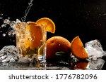 Fresh Orange Cocktail With Ice...