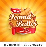 organic peanut butter label ... | Shutterstock .eps vector #1776782153