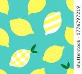 fresh geometric lemons seamless ... | Shutterstock .eps vector #1776797219