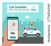 car sharing app  man booking...