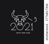 image of a bull's head. logo... | Shutterstock .eps vector #1776817346