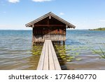Boathouse On Lake Chiemsee With ...