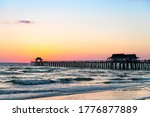 Naples  Florida Sunset Dusk In...