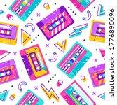 retro cassette pattern....   Shutterstock .eps vector #1776890096