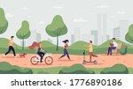 park activities. outdoor sport... | Shutterstock .eps vector #1776890186