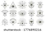 Evil Doodle Eye. Hand Drawn...
