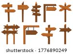 wood direction signs. wooden... | Shutterstock .eps vector #1776890249