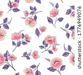 floral seamless pattern....   Shutterstock .eps vector #1776949076