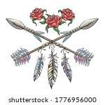 hand drawn boho style design... | Shutterstock .eps vector #1776956000