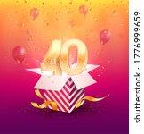 40 th years anniversary vector... | Shutterstock .eps vector #1776999659