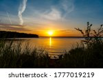 Sunset at the south dam area of ...