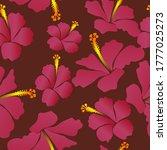 Seamless Tropical Hibiscus...