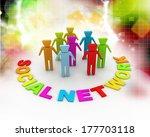 social network | Shutterstock . vector #177703118