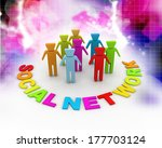 social network | Shutterstock . vector #177703124