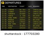 flights departures board... | Shutterstock . vector #177703280