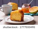 Homemade Orange Cake. Table...