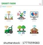 smart farm icon set flat style... | Shutterstock .eps vector #1777059083
