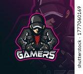 gamer mascot logo design vector ... | Shutterstock .eps vector #1777060169