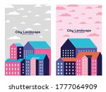 pink purple and blue city... | Shutterstock .eps vector #1777064909