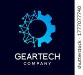 gear technology vector logo... | Shutterstock .eps vector #1777077740