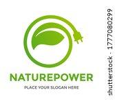 eco energy vector logo with... | Shutterstock .eps vector #1777080299
