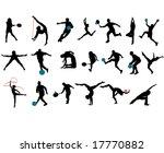 sport silhouettes | Shutterstock .eps vector #17770882