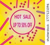 hot sale label design.  sale... | Shutterstock .eps vector #1777121096