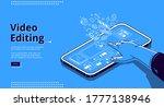 video editing banner. film...   Shutterstock .eps vector #1777138946