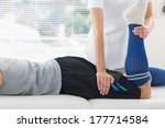 physiotherapist working on the... | Shutterstock . vector #177714584