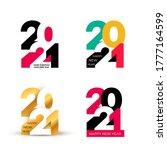 set of happy new year design of ... | Shutterstock .eps vector #1777164599