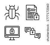 Cyber Security Icon Set   Virus ...