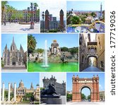 Collage Of Landmarks Of...