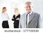 happy senior businessman in the ... | Shutterstock . vector #177720530