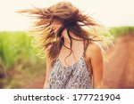 gorgeous romantic girl outdoors.... | Shutterstock . vector #177721904