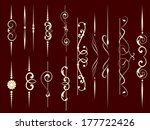 set of decorative elements for... | Shutterstock .eps vector #177722426
