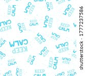 Keep Calm. Retro Pattern For...