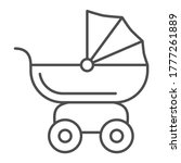 pram for dolls thin line icon ... | Shutterstock .eps vector #1777261889