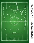 soccer tactic table. vector... | Shutterstock .eps vector #177726926