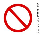 red prohibition sign on white... | Shutterstock .eps vector #1777271153