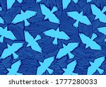 bird flying seamless pattern ... | Shutterstock .eps vector #1777280033
