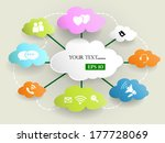 cloud computing concept .vector ... | Shutterstock .eps vector #177728069