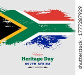 happy heritage day south africa ... | Shutterstock .eps vector #1777287929