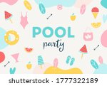 summer pool or beach party... | Shutterstock .eps vector #1777322189